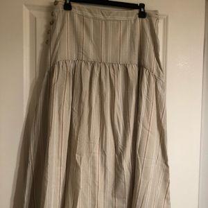 NWT Anthropologie drop waist neutral stripe skirt